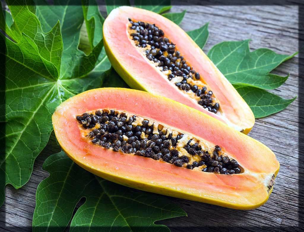 homemade papaya and neem face pack