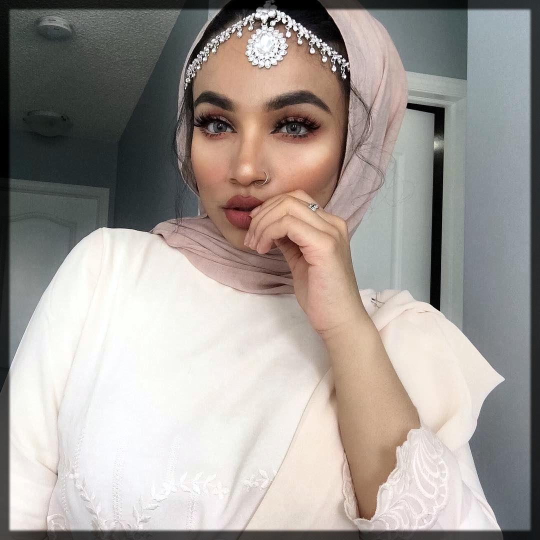 party hijab makeup tutorial