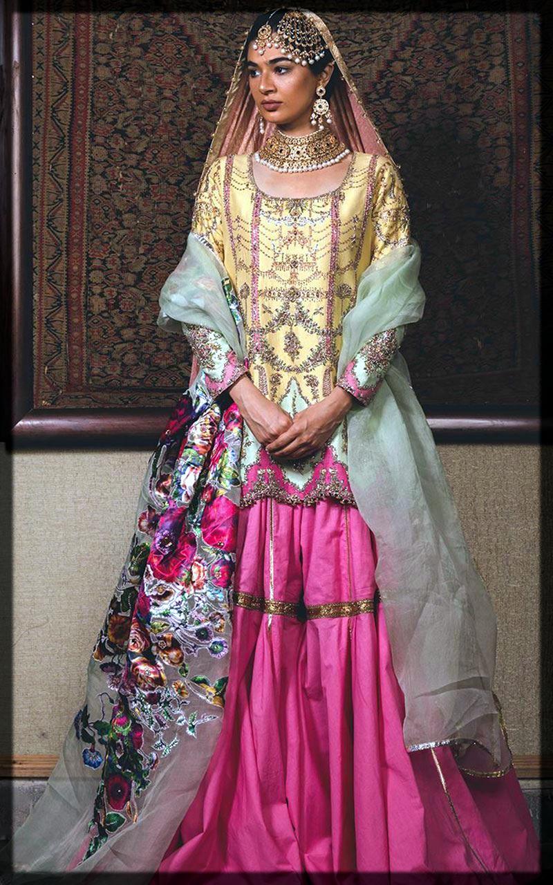 purple and yellow mehndi dress