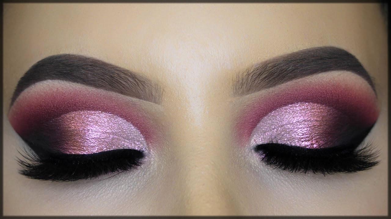 purple smokey make up