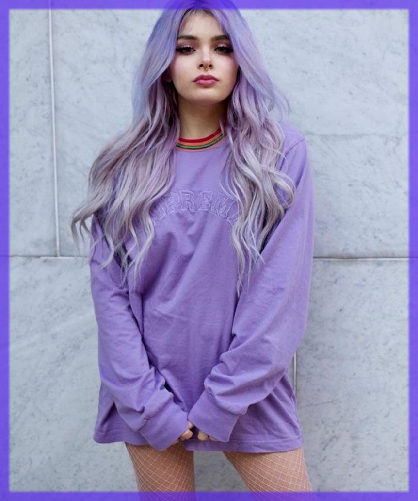 purple winter makeup