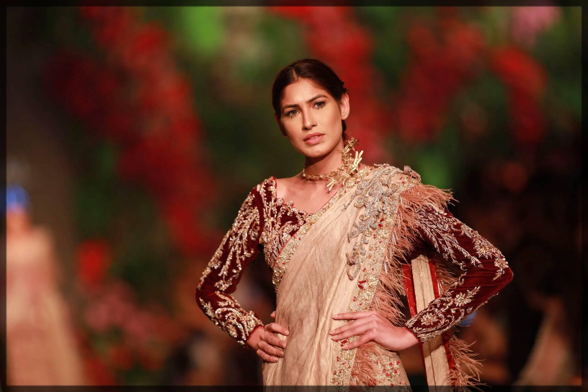 saree by ahmad sultan bridal collection