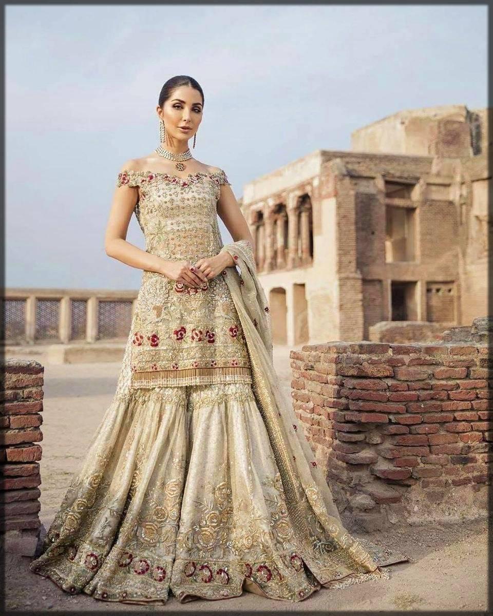 bridal sharara dress for walima bride