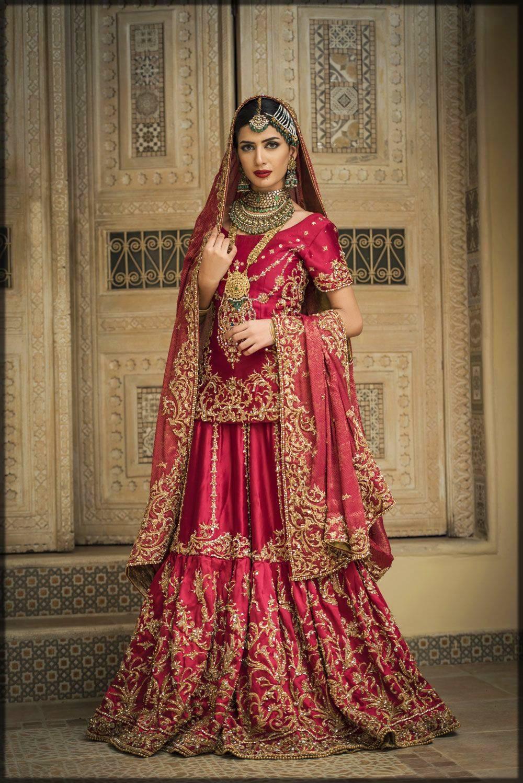 bridal sharara dress with short shirt
