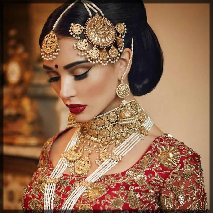 side jhoomar for bride