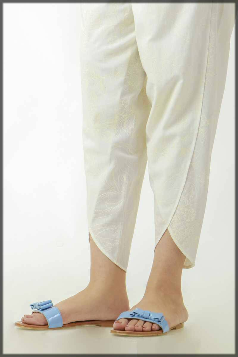 simple plain tulip style pant