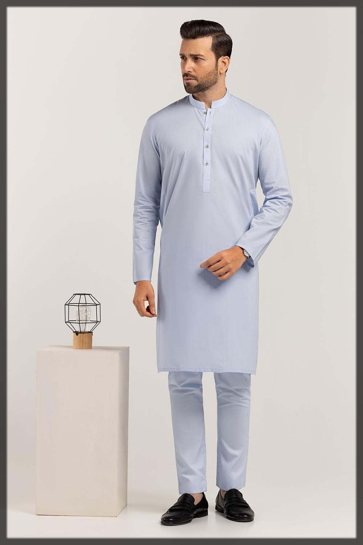 sky blue summer suit for men