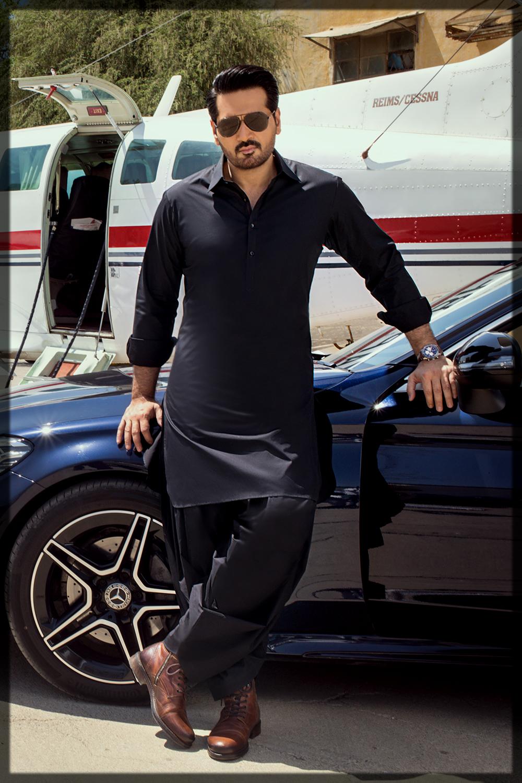 sleek black summer suit for men