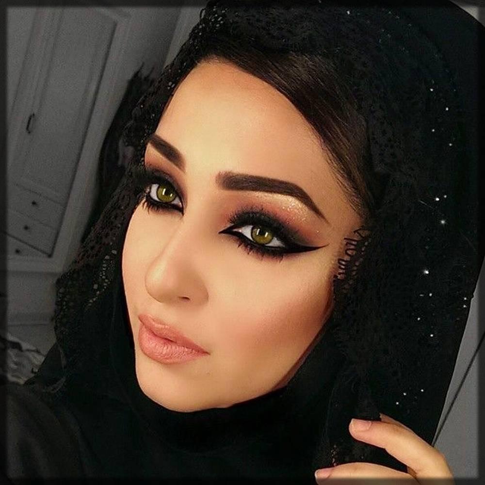 stunning arabic makeup for hijabi girls