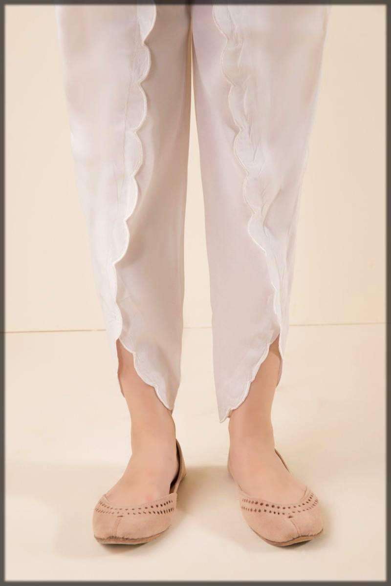 stylish lace style tulip pant