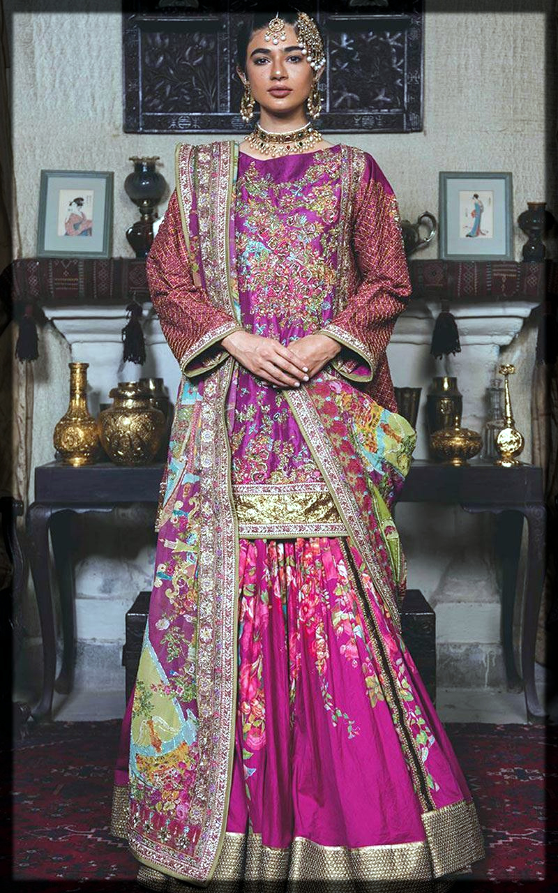 stylish purple outfit for mehndi