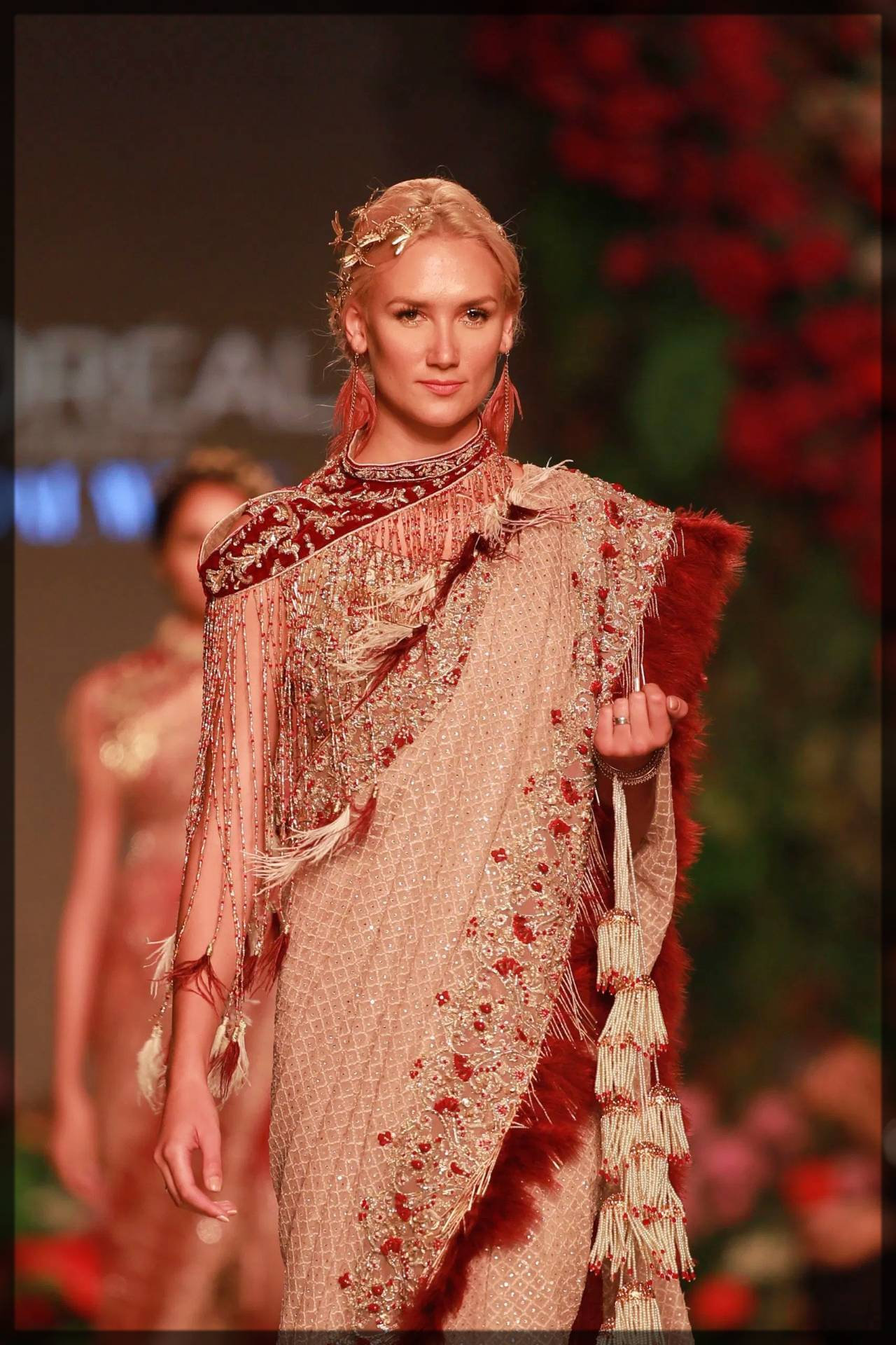 traditional and fancy saree by ahmad sultan - talesw of mughals