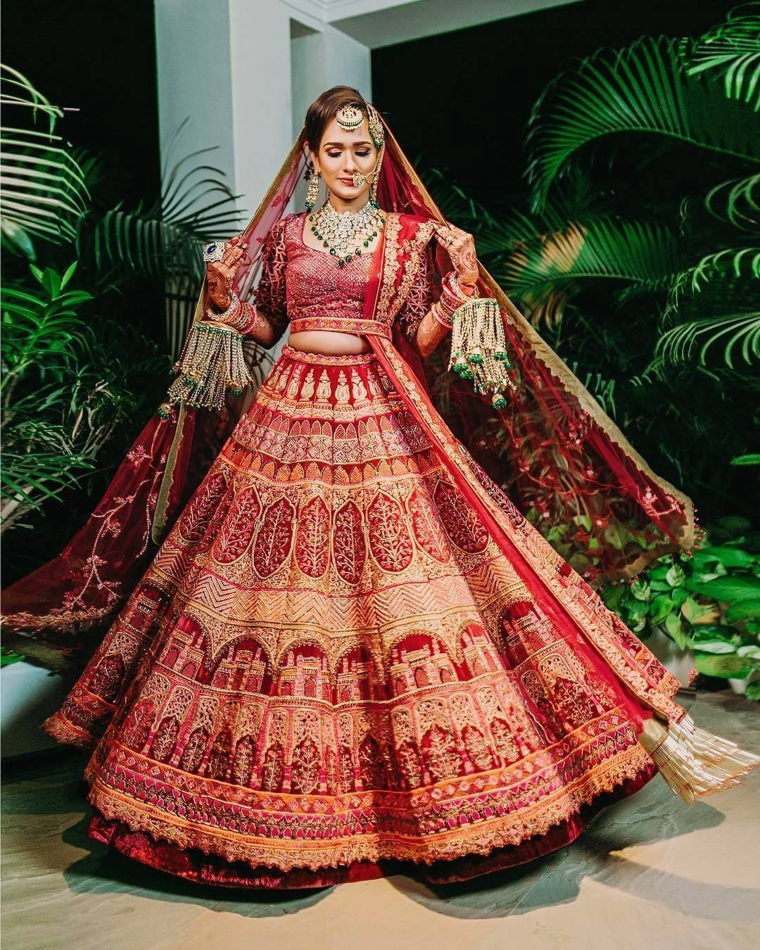 traditional bridal lehenga choli