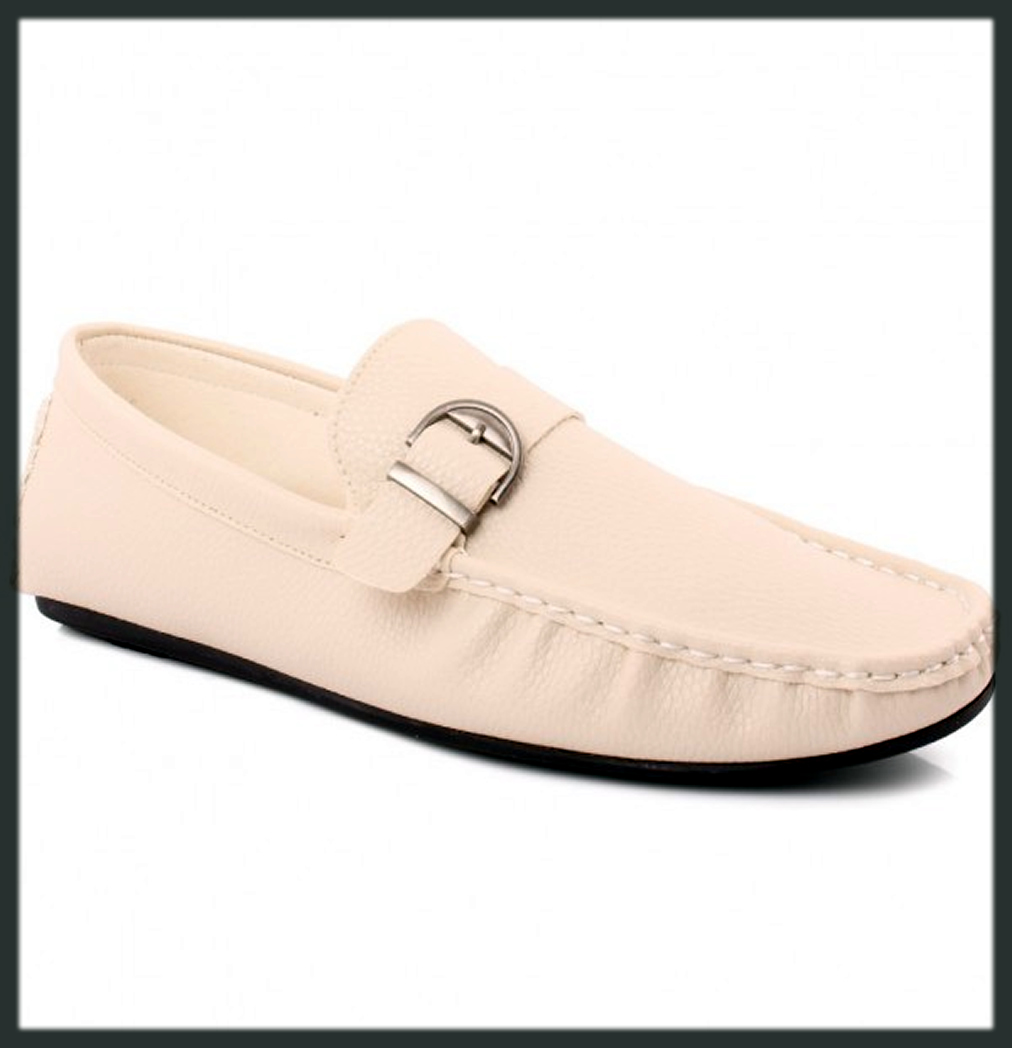 Stylish white footwear by unze collection