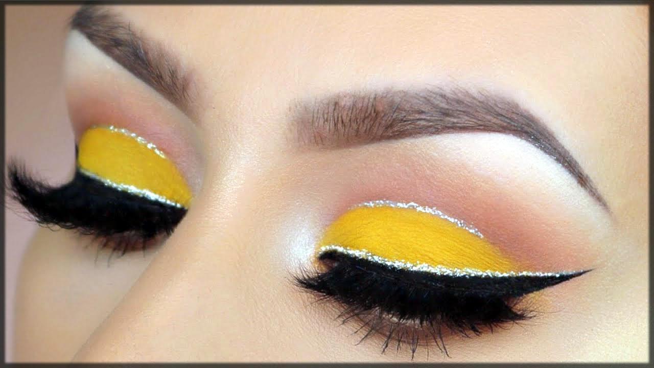 yellow cut crease eye makeup
