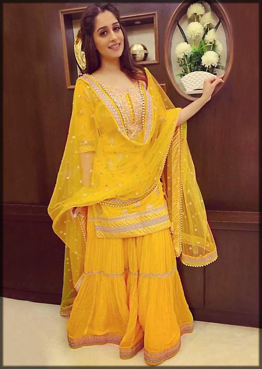 bridal sharara dress for mayun