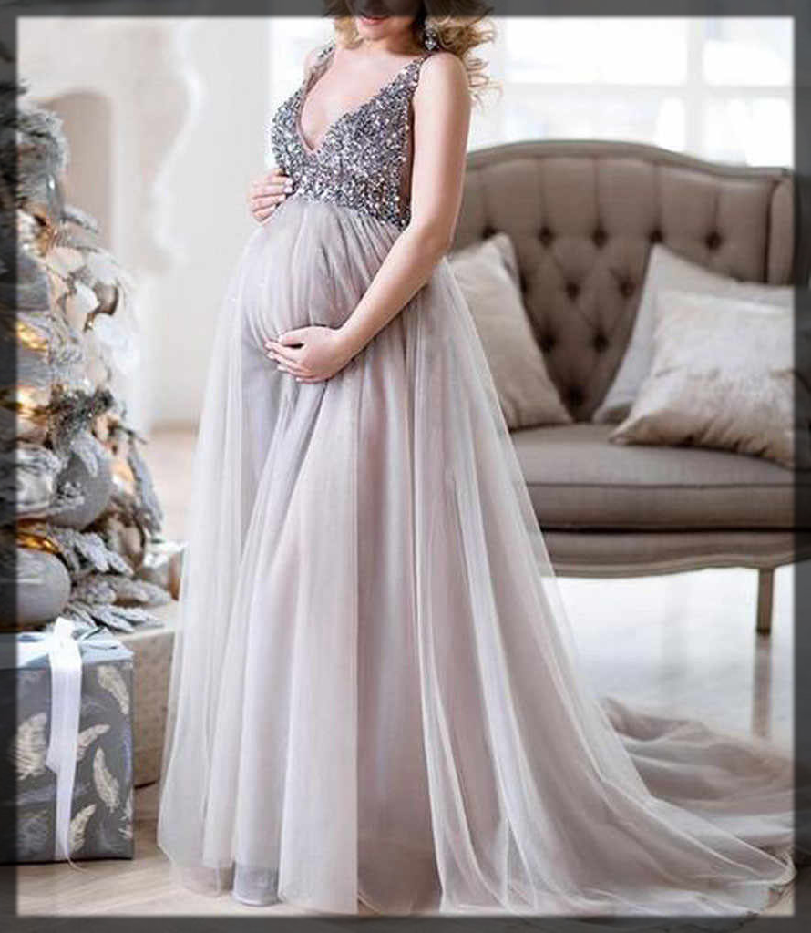 Appealing long maxi for pregnant ladies