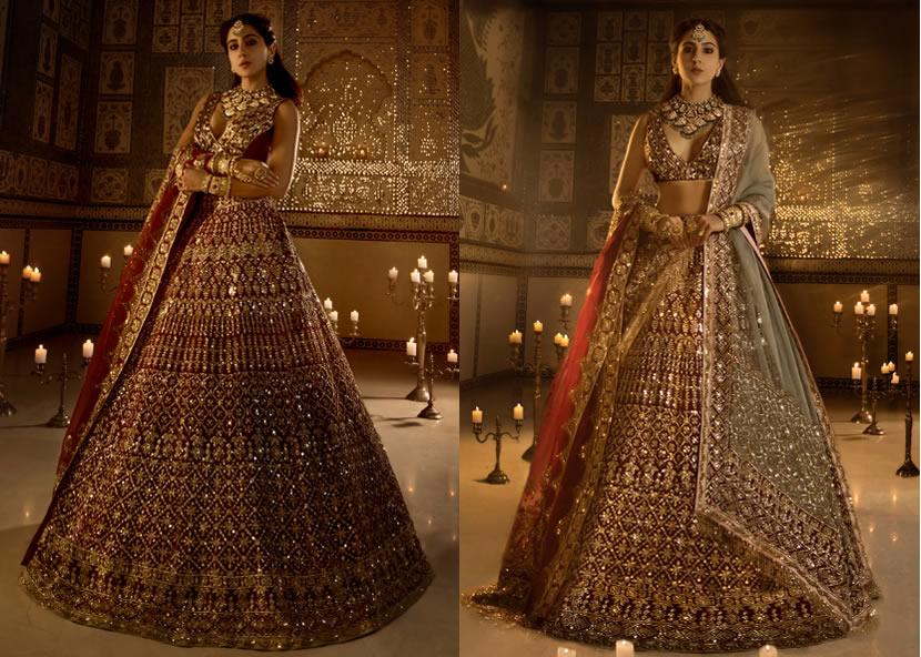 Bridal Red Lehenga Choli for Vidaai