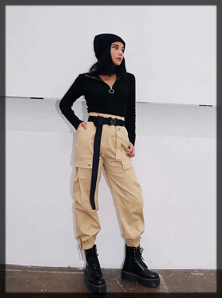 Cargo Khaki Pants For Women