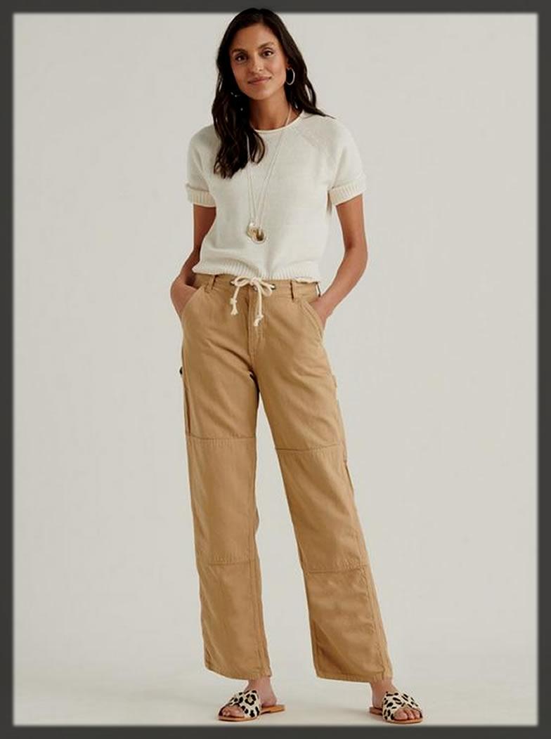 Casual Khaki Pants For Women