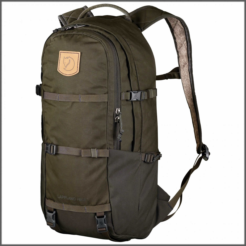 Dark green backpack for hiking