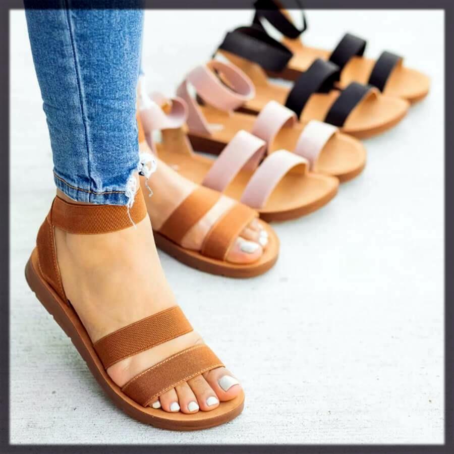 Elastic Flat Sandals
