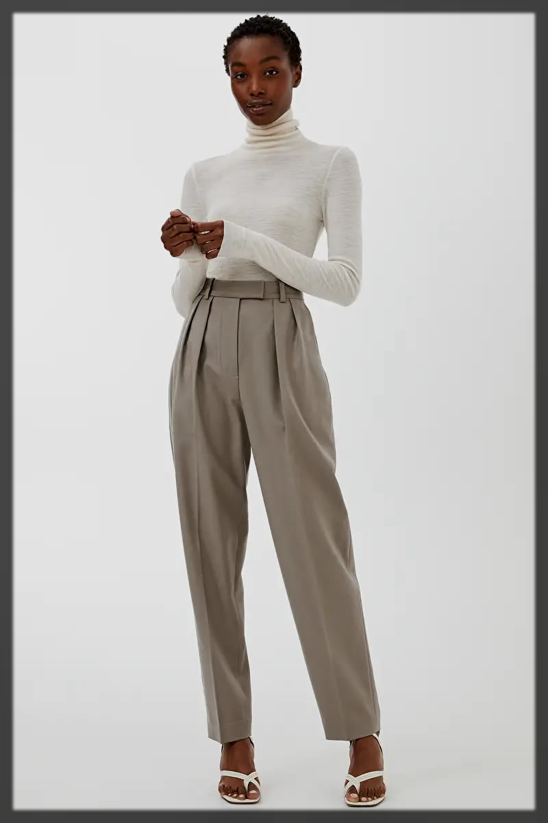 Flannel Trousers with white shirt