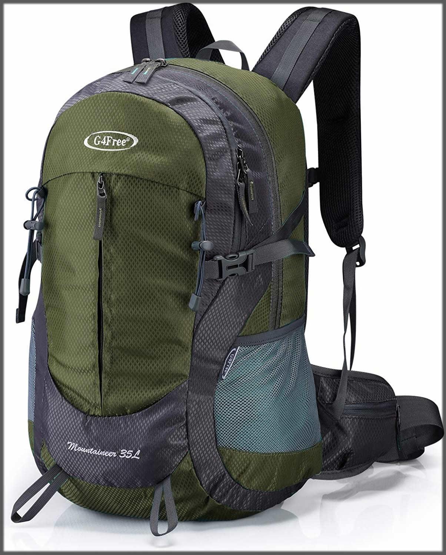 Green hiking back pack
