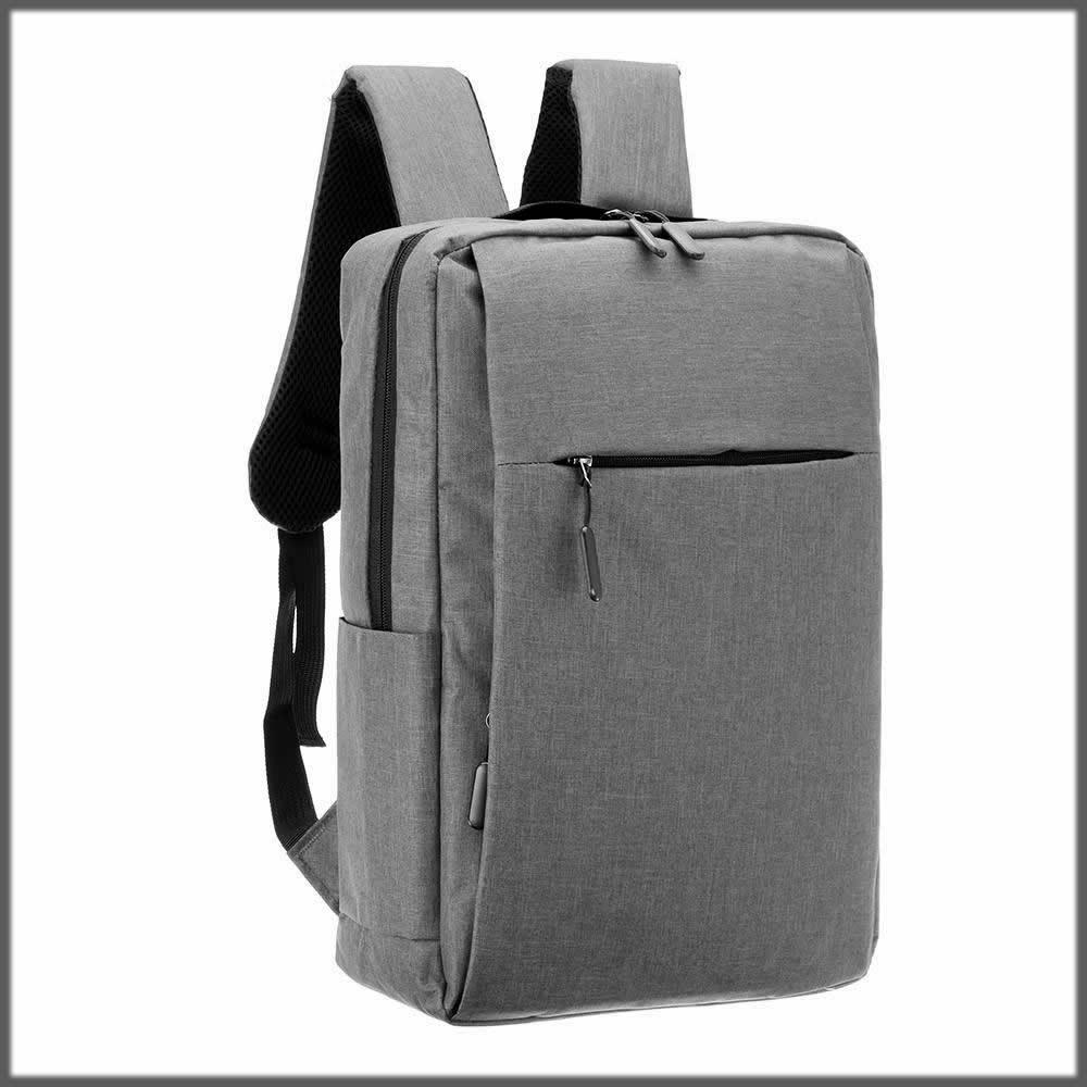 Grey laptop bag