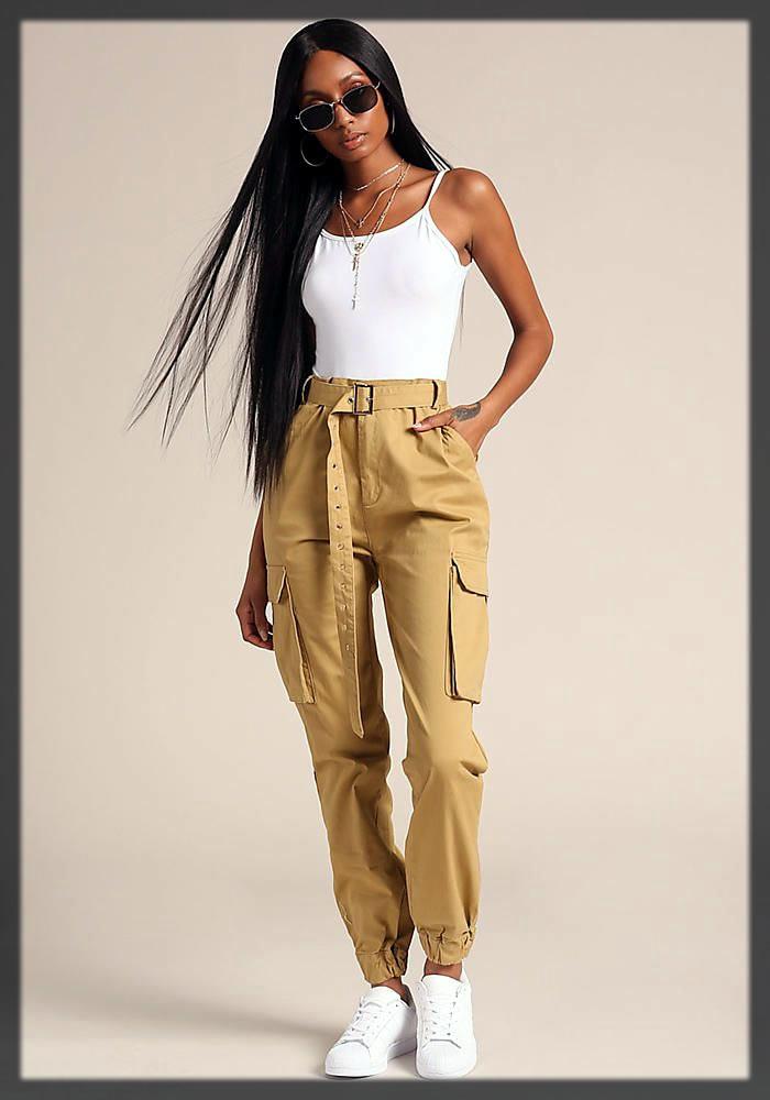 Khaki Pants For Women Collection