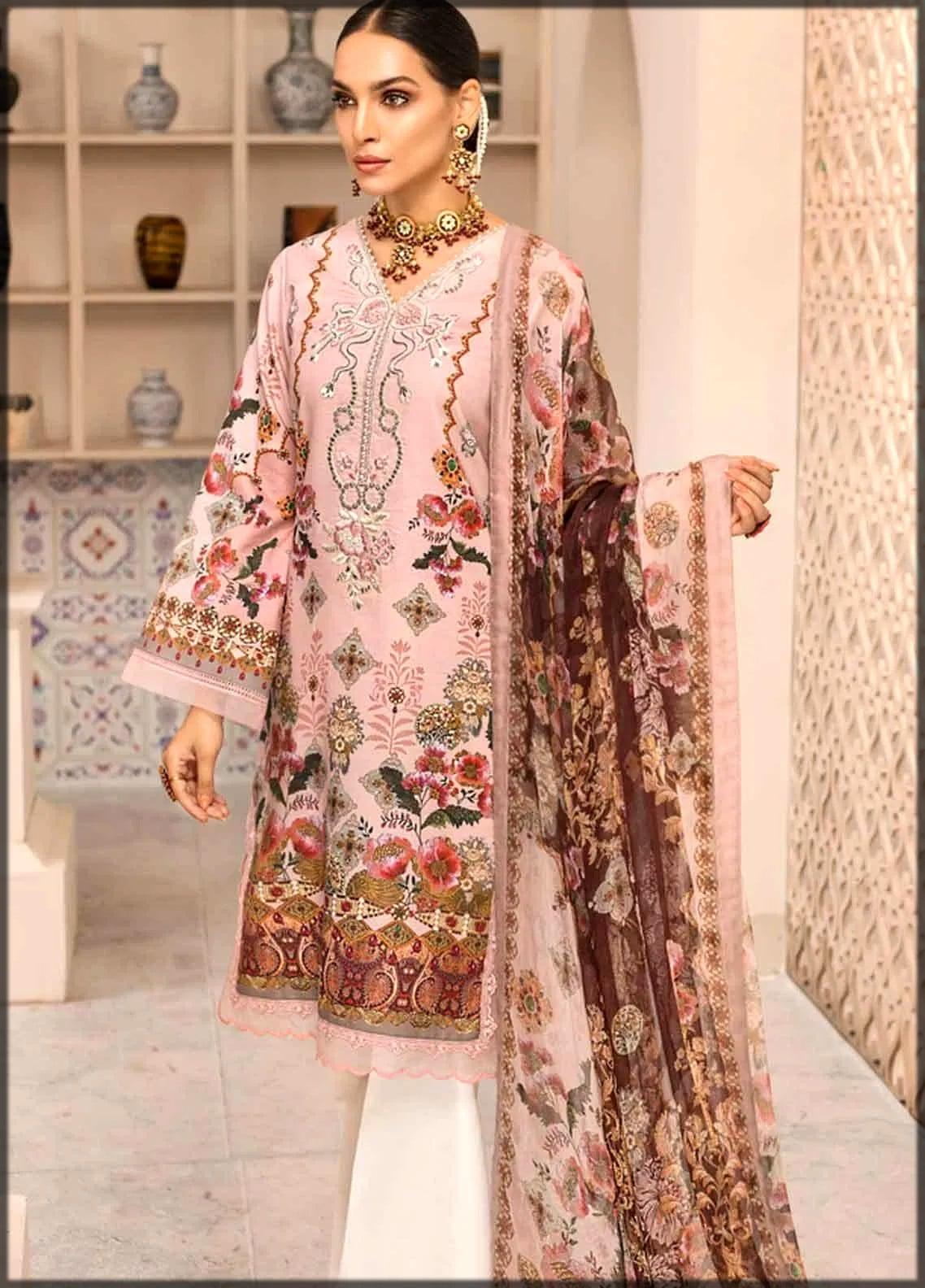 Lawn dress by pakistani designer