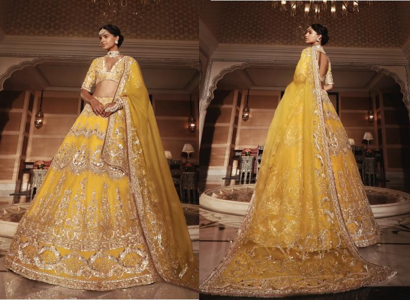 Lemon Yellow Haldi Outfit for women