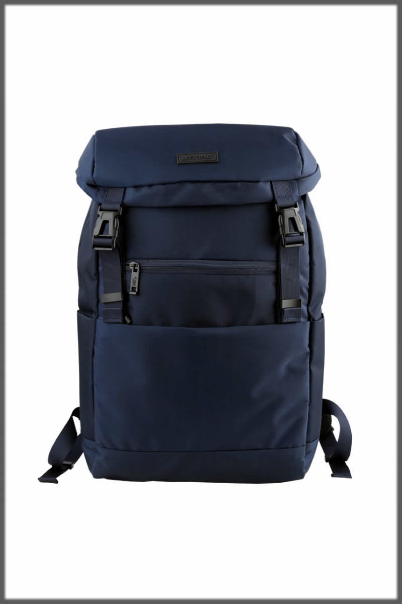 Navy blue bagpack