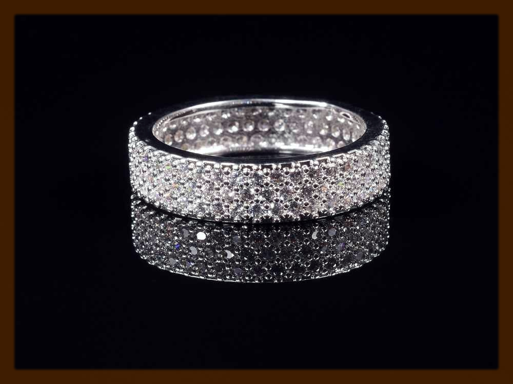 Pave Engagement Ring For Women