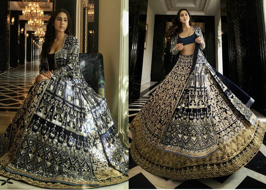 Sleek Black Bride Outfit for Sangeet