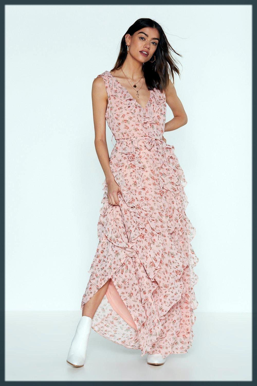 appealing Ruffle pakistani maternity dresses