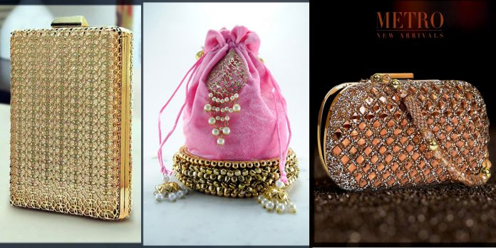 appealing and dazzling wedding clutches for bride