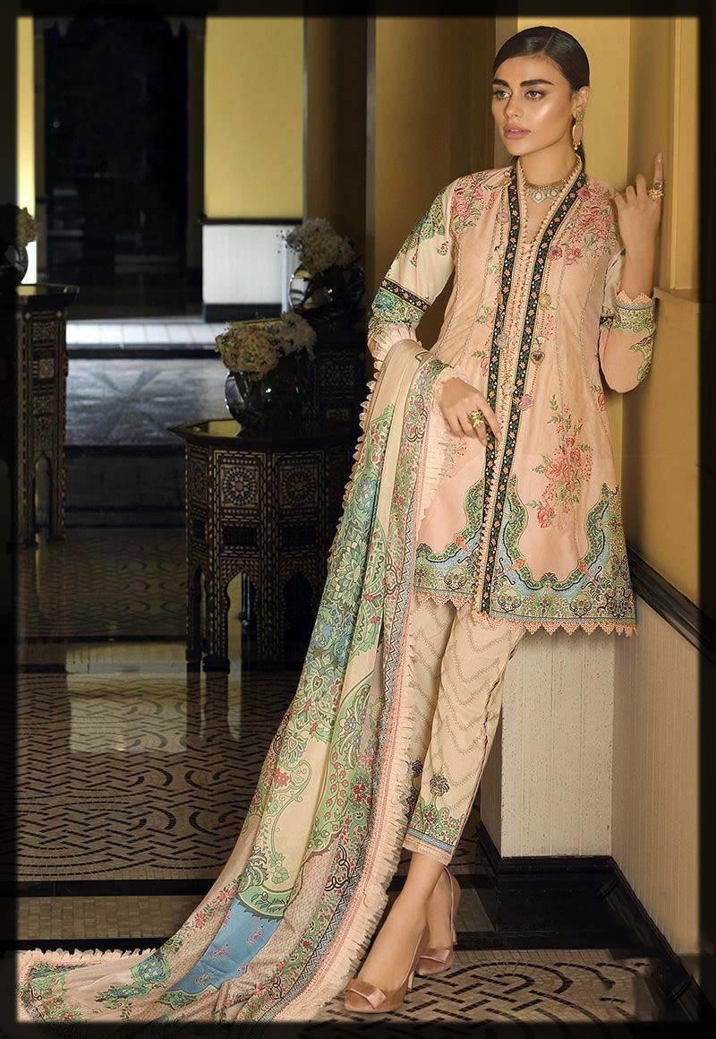 asim jofa lawn designer dress