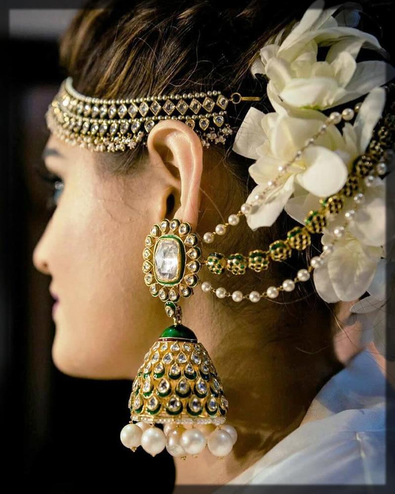 Bridal Jhumka Earrings And Bangles