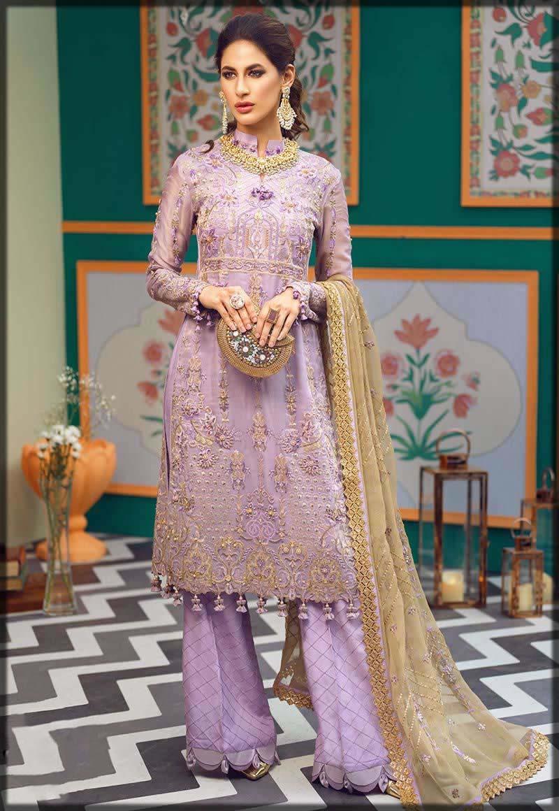 beautiful lilac chiffon dress