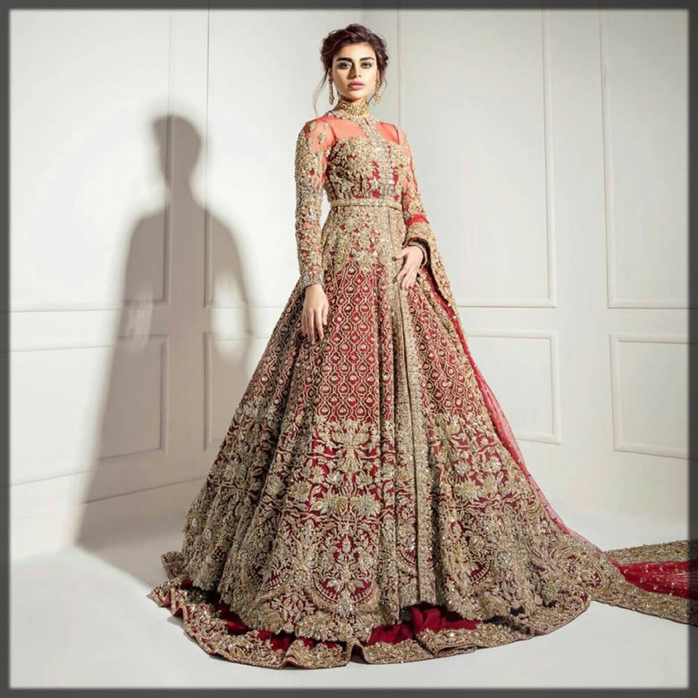 bridal wear gown for barat