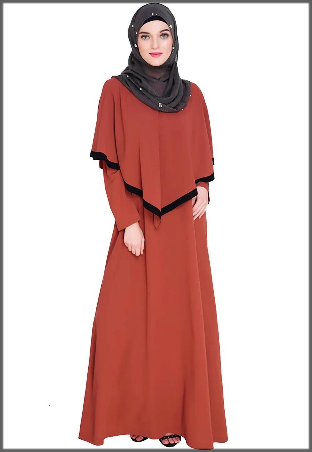 cape style decent abaya for muslim girls