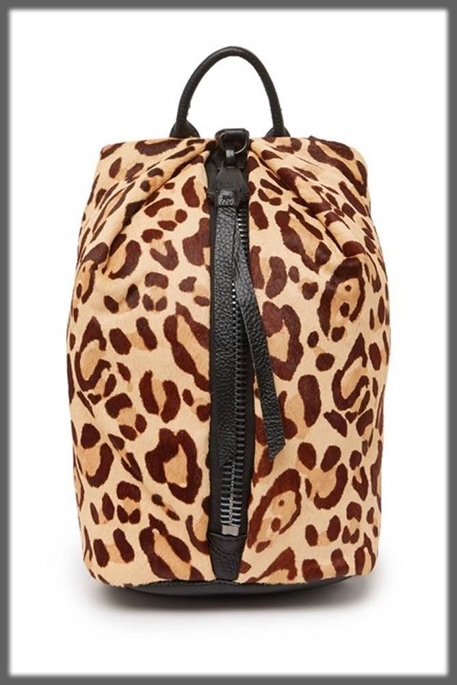 cheetah printed leather bag for ladies
