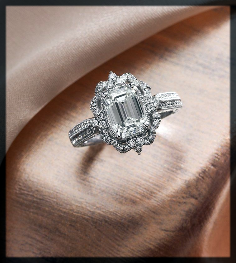 classy Vintage Engagement Rings for women
