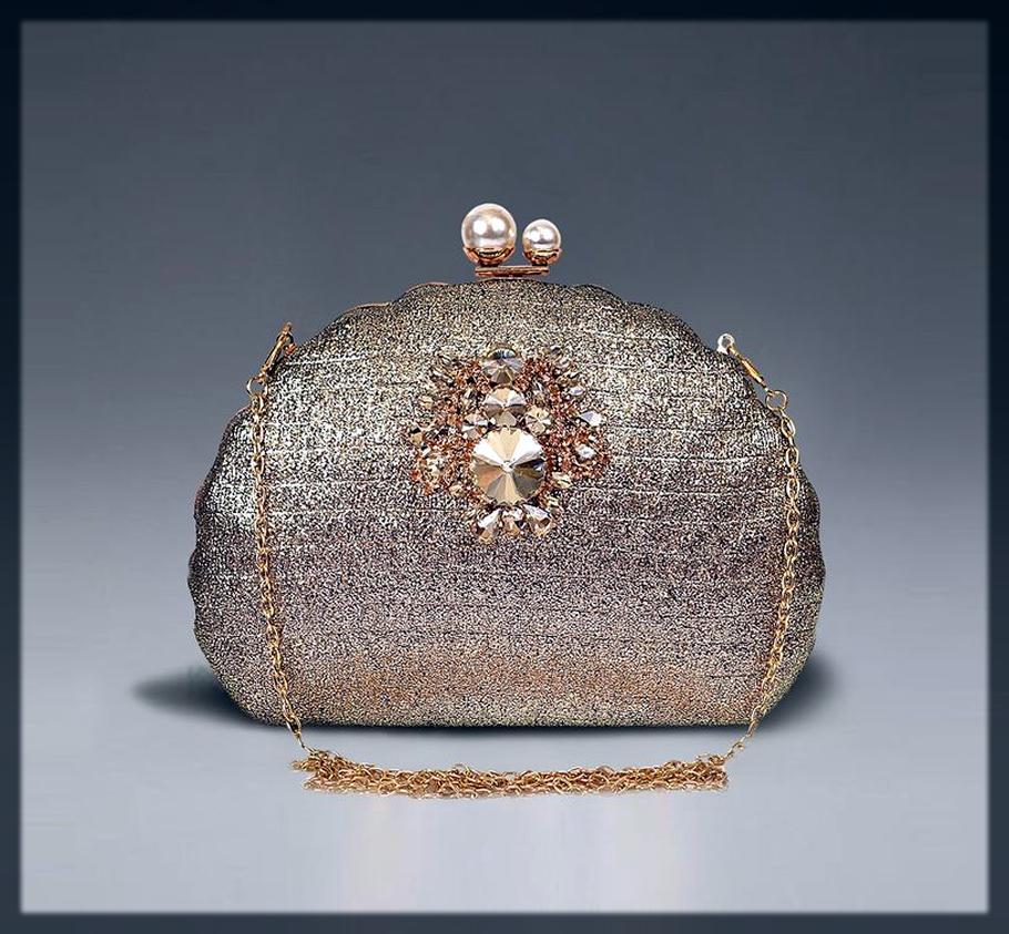 classy fancy bridal clutch