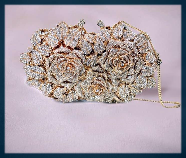 dashing fancy bridal clutch