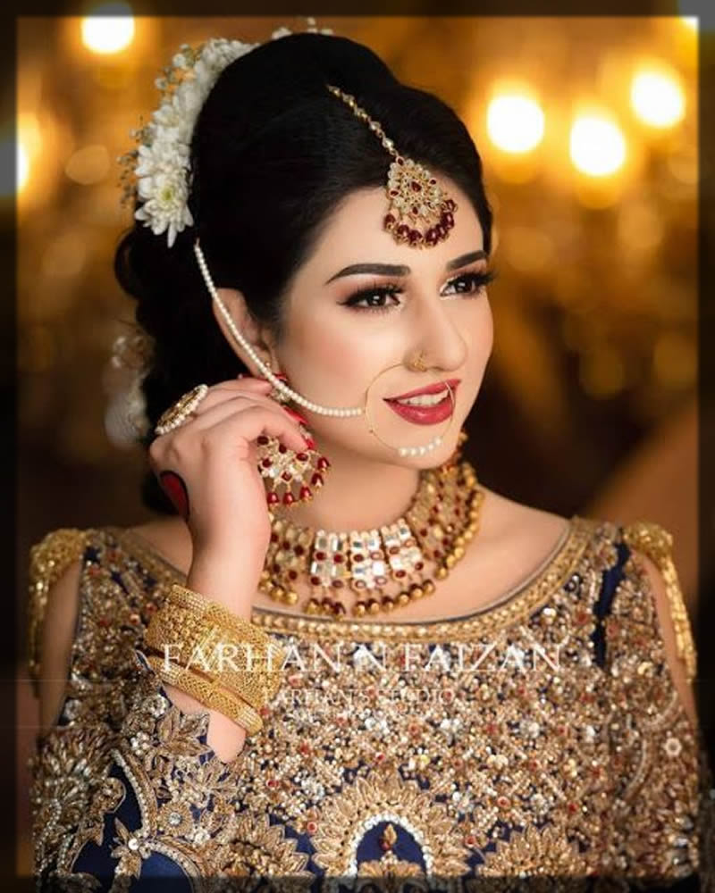 delicate nose ring for bride