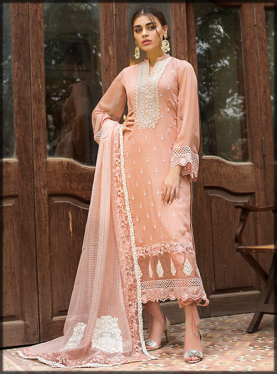 delicate pink chiffon dress