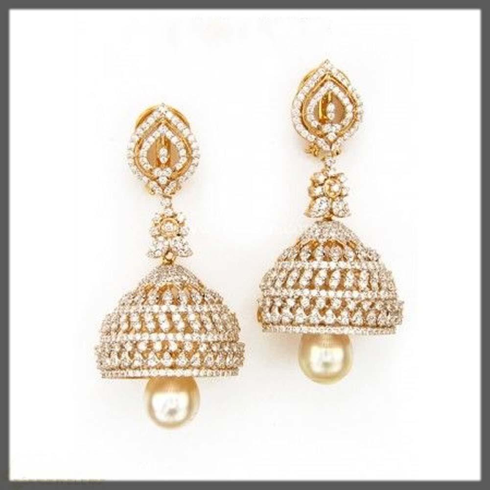 diamond jhumka earrings