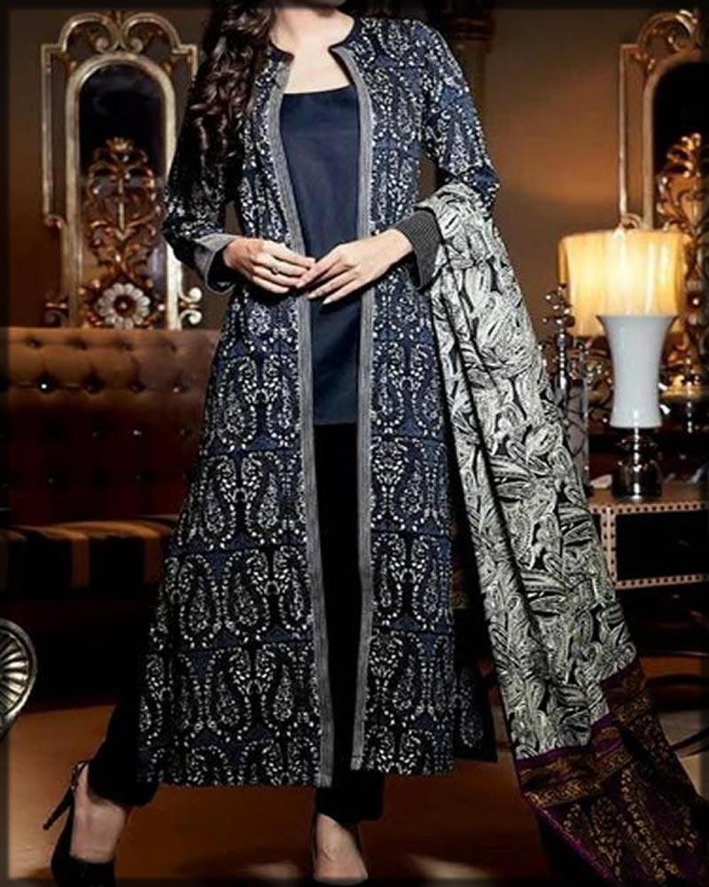 double net black gown